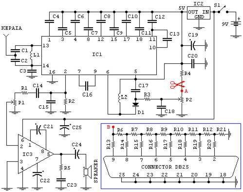 fm radio (may be used with pc) circuit diagrams, schematics