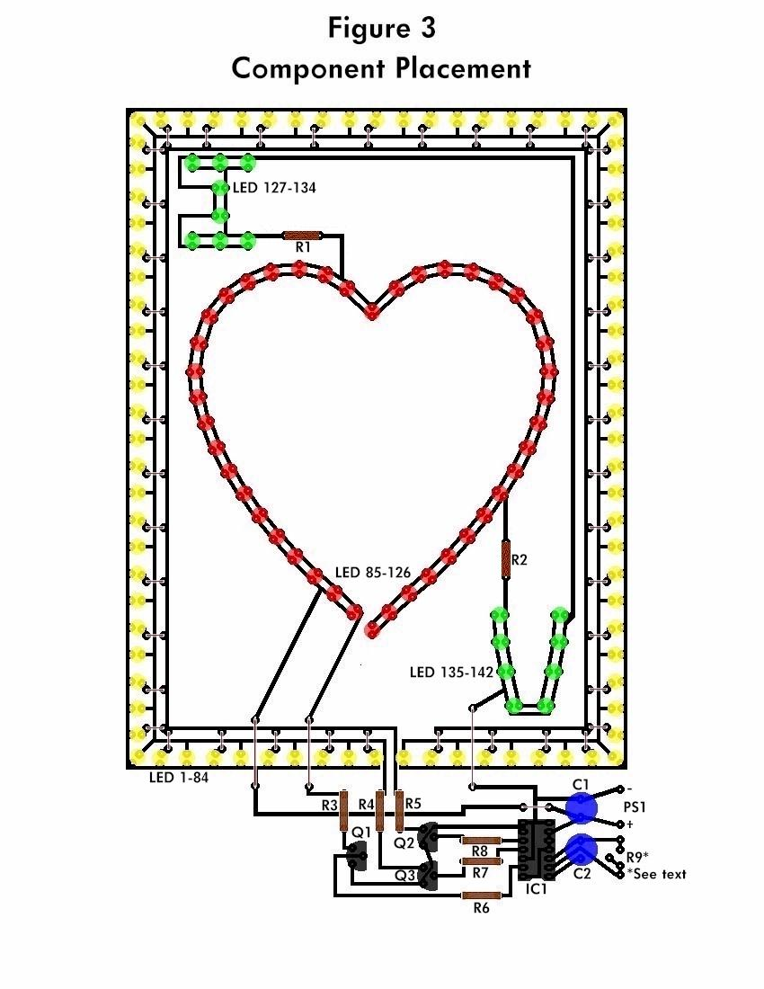 figure3f the flashing heart circuit diagrams, schematics, electronic projects led circuit diagrams at gsmportal.co